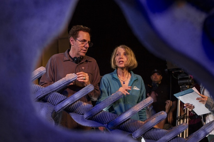 Marc and Elaine Zicree, co-directing on the set of Space Command.
