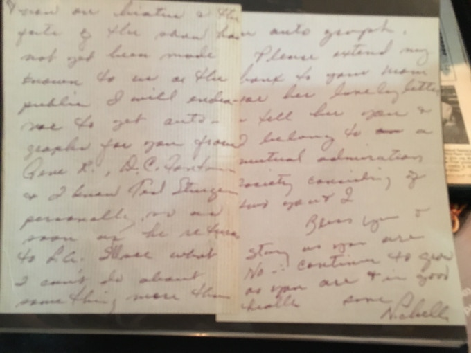 A hand written letter to Marc Zicree from Nichelle Nichols! (Uhura)