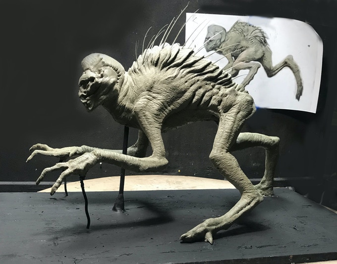 """An example of the 8"""" x 24"""" maquette, created by Erick Rodriguez"""