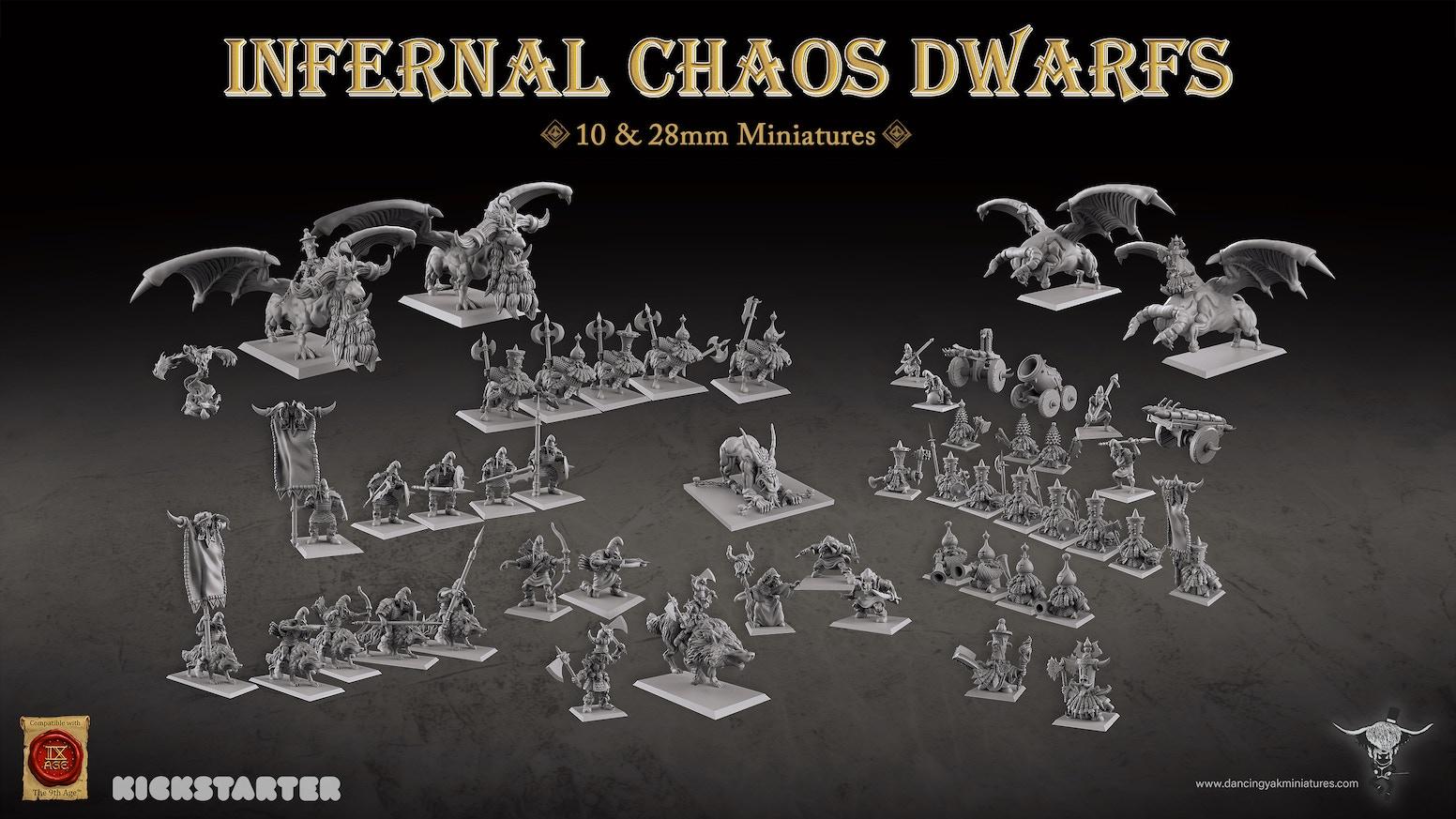 Infernal Chaos Dwarfs Hobgoblins Miniatures By Dancing Yak