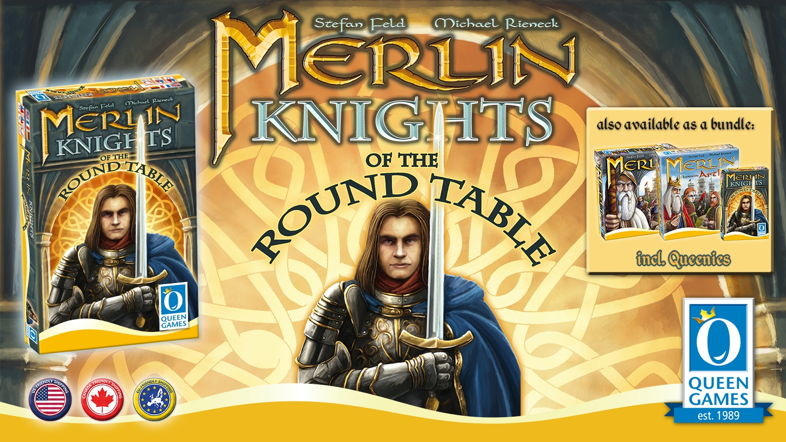 The knights of the round table, powerful allies helping you on your quest to become the new king!