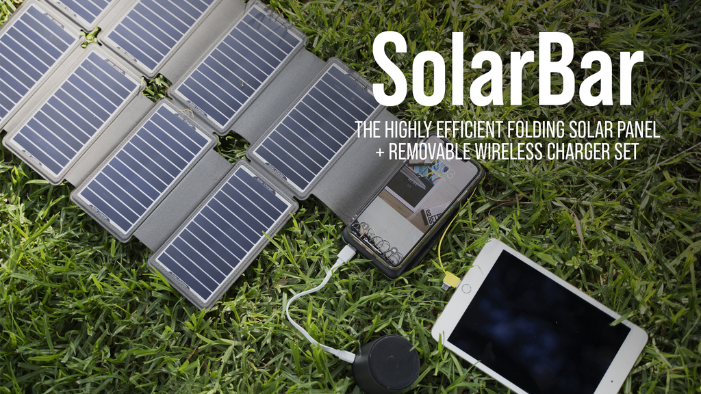 SolarBar: Most Efficient Solar Panel + Wireless Charger Set project video thumbnail