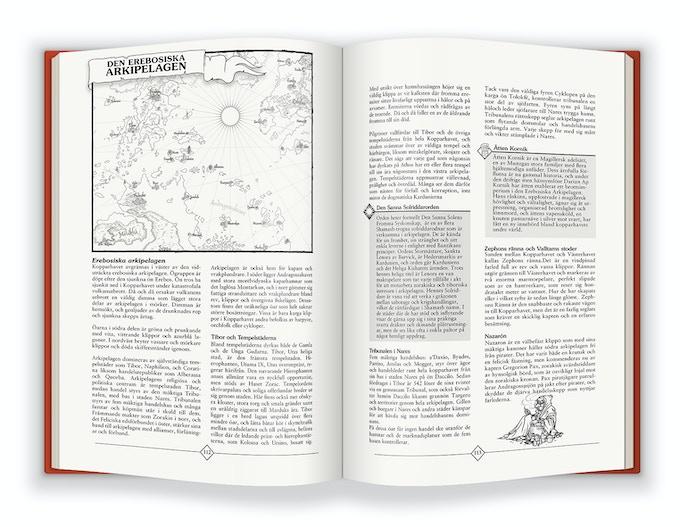 Beskrivning av Den erebosiska arkipelagen.