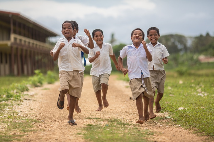 Children are a happy presence on our Heilala plantations.