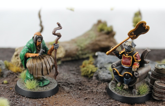 The wisest of Atsuda, opposed to the most cunning of the Wafuto. Painting & terrain by Skullboy Studios.