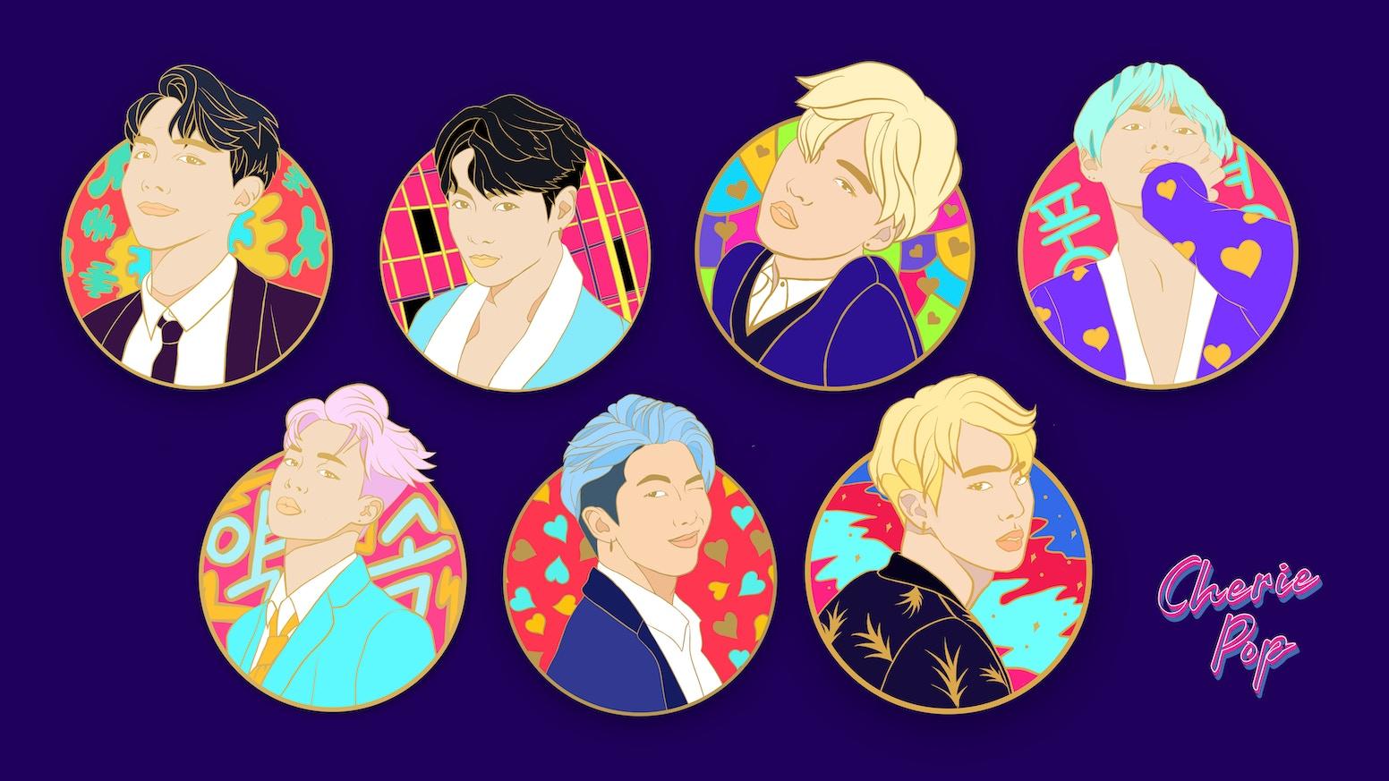 BTS Enamel Pins by Cherie Pop » Pin Update — Kickstarter