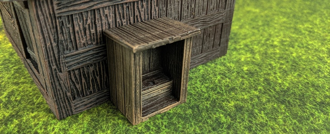 The privy can go against a building or stand on it's own.
