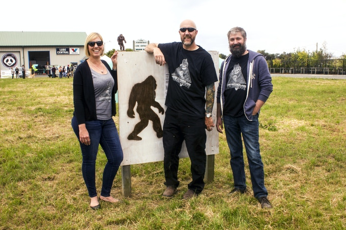 Lisa, Bigfoot, Ray and Neil at the Groundbreaking Ceremony