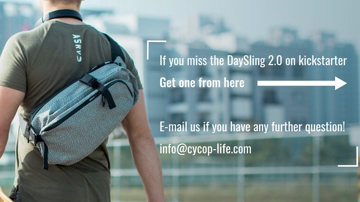 DaySling 2.0 is a EDC bag made with cut & water proof material and  hold all your essentials  in a light, sleek, and secure bag.