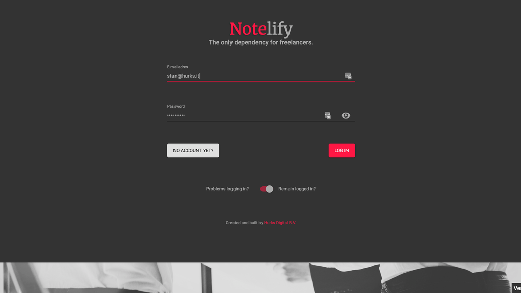 Project image for Notelify - The only dependency for freelancers