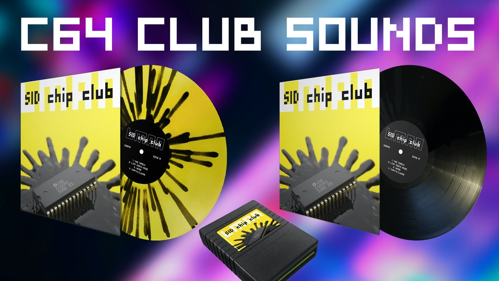 SID Chip Club: Vinyl album - real c64 house & techno by LMan project video thumbnail