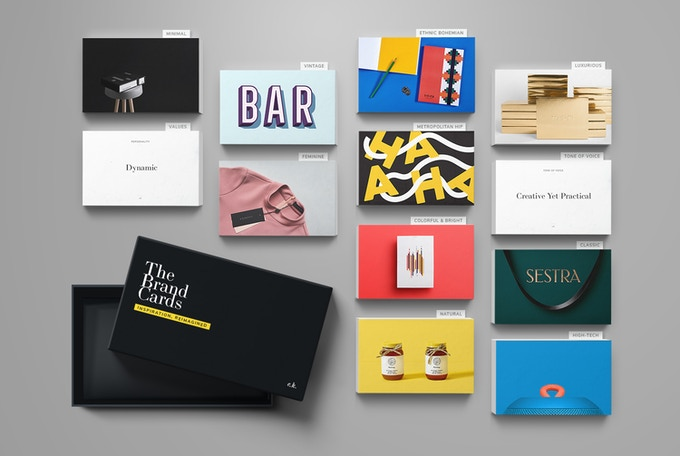 10 styles, 200 cards to help you set the design direction for the brand.