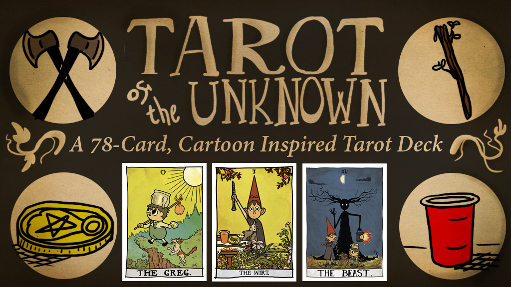 Project image for Tarot of the Unknown: A 78-Card Cartoon Inspired Deck