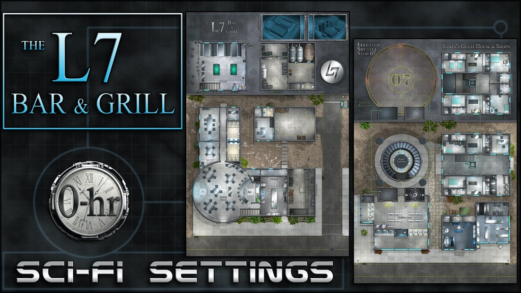 L7 Bar & Grill: sci-fi miniature-scale map project video thumbnail