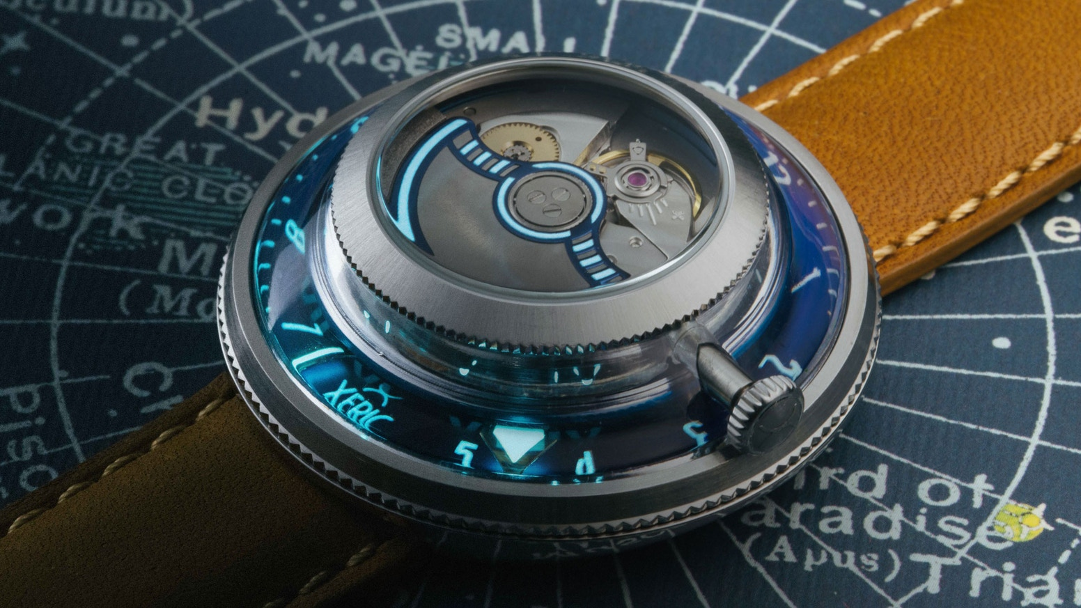 Turning the watch industry upside down! We modified a Miyota 90S5 movement so you can view the mechanics on the front of your watch.
