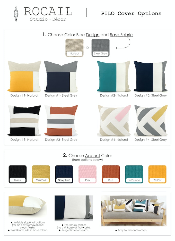 Designs and Color Combinations - Rocail Studio