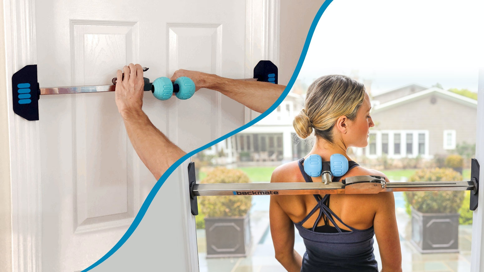 Sets up in any doorway in seconds and provides fast relief from back and neck pain, stress & sore muscles