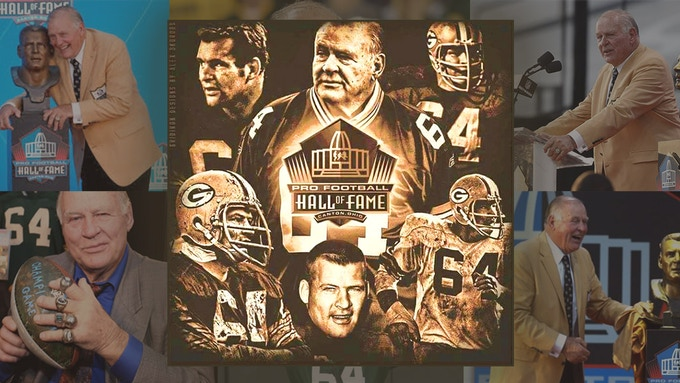 A graphic depiction of Jerry's Hall of Fame induction; collage created for this campaign by Doug Ridley