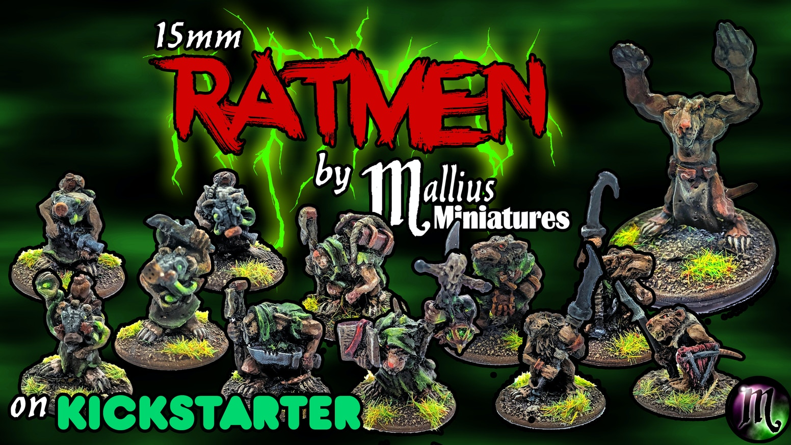 A Series of Hand Sculpted 15mm Scale Resin Cast Rat-Men Miniatures