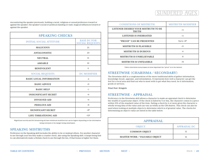 Skills Page example