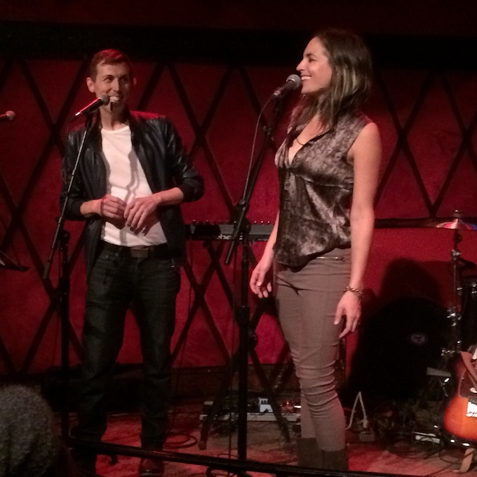 "Michael Inge and me performing our song ""Love Big"" in NYC"