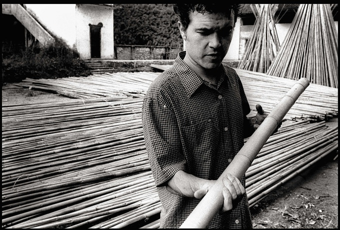 Trout Grass producer and bamboo importer Andy Royer on location in Aozai, China. Photo by Kyle George.