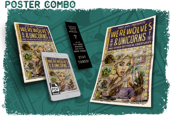 Werewolves & Unicorns - A Comic Book Anthology by Thee 100's