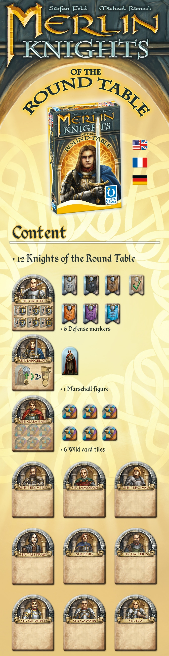 12 Knights Of The Round Table.Merlin Knights Of The Round Table By Queen Games Kickstarter