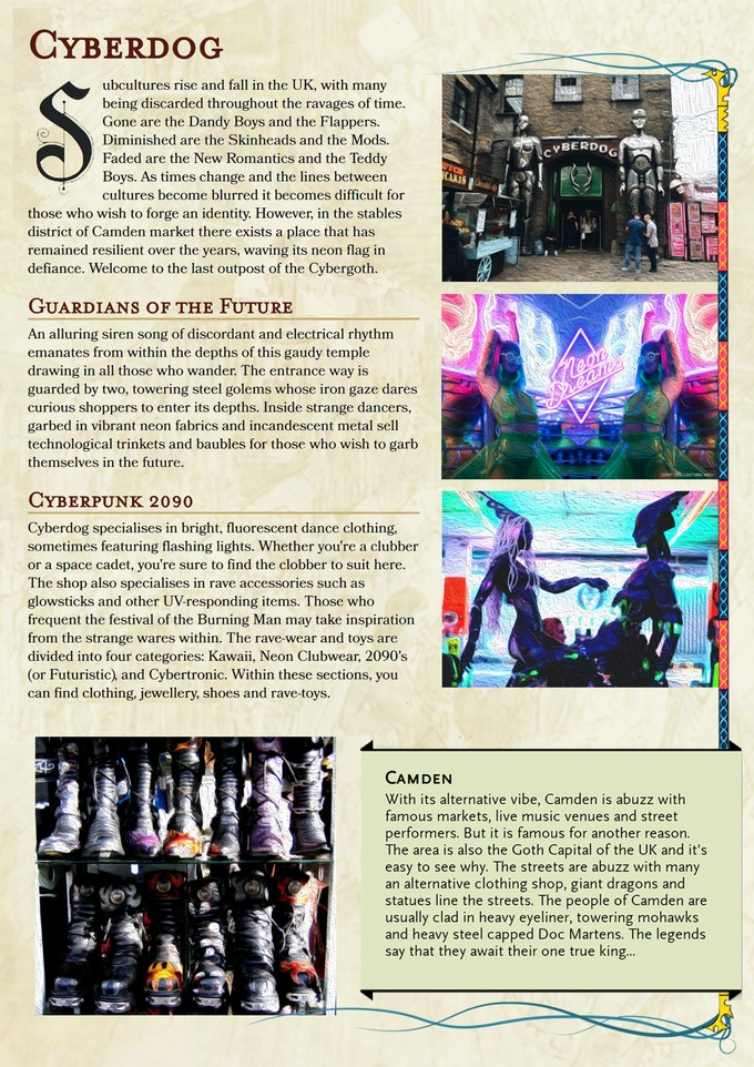 Will you travel to the temple of the Cybergoth?