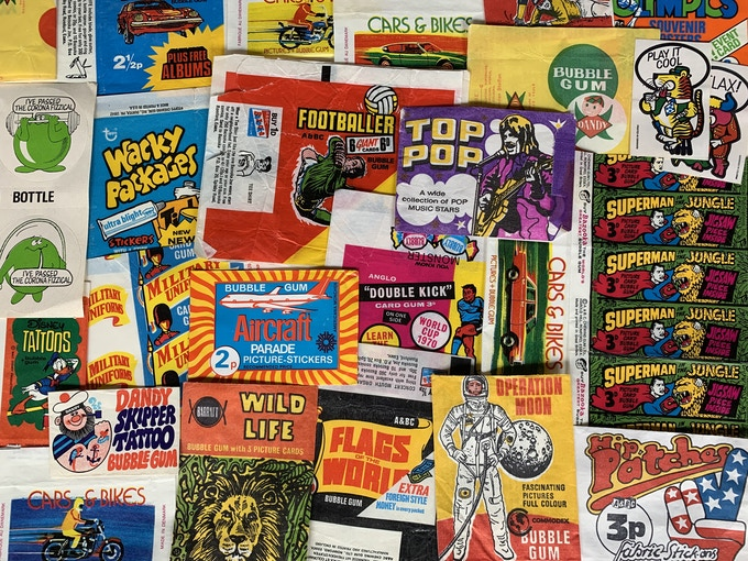 Some of the 'Lucky Dip' wrappers