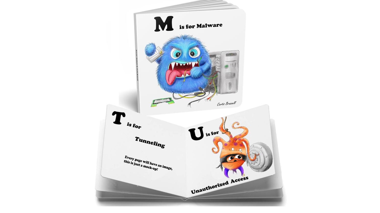 A Cyber Security alphabet picture book for young children! Missed it on Kickstarter?