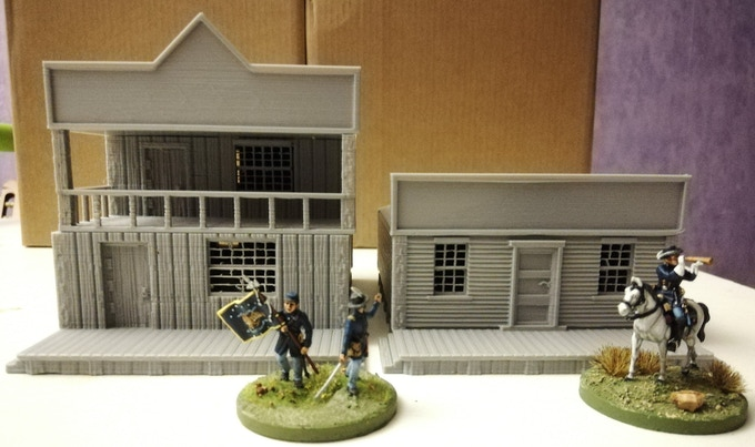 Exemple of the shop 1 and 2 printed for 20mm wargame :)