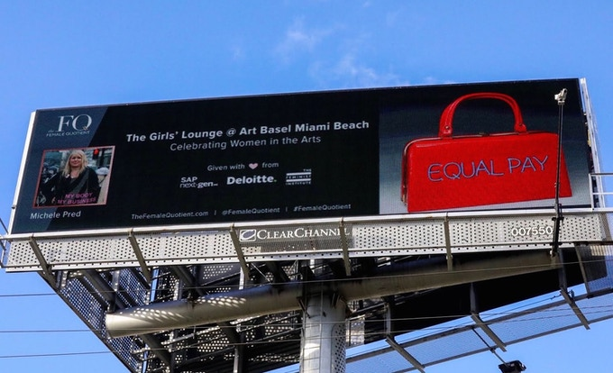 Equal Pay Billboard in Miami, 2018