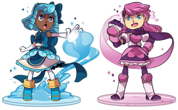 6-inch tall acrylic standee set of the two leads!