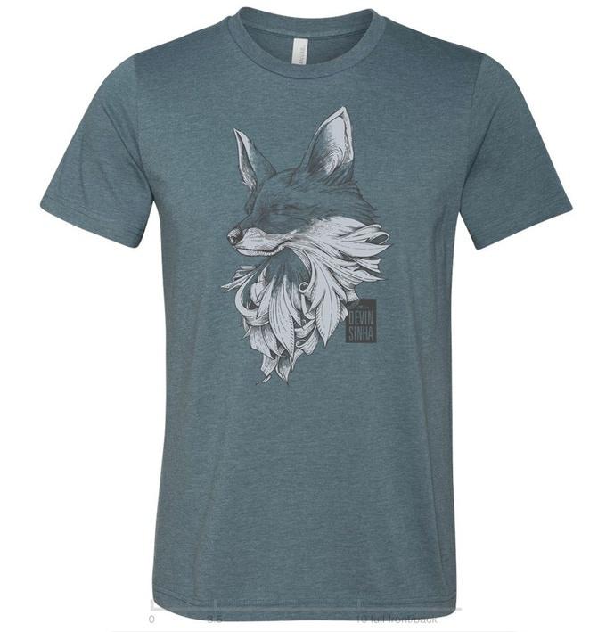 Unisex slate Fox t-shirt