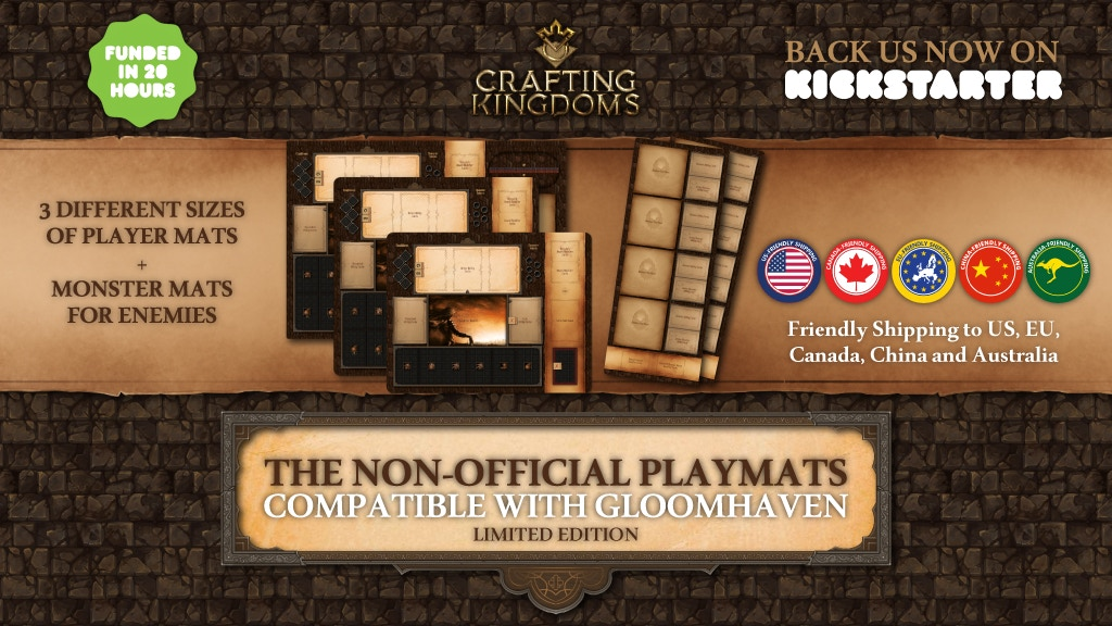 The Non-Official Playmats compatible with Gloomhaven project video thumbnail