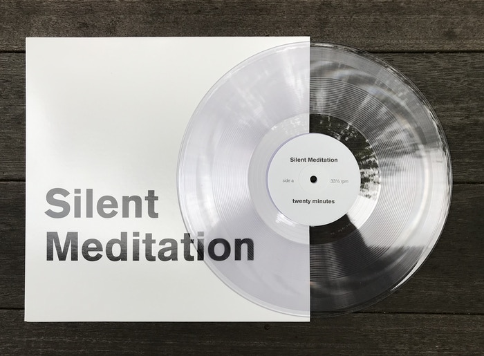 A record with two silent meditations. Now available from Light in the Attic records. Shipping now!