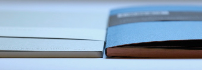 Left: Pebble Stationery Co A5 Cahier Notebook, Right: Other notebook - 80 pages, ~80 gsm