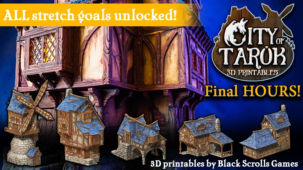City of Tarok: 3D printable medieval buildings project video thumbnail