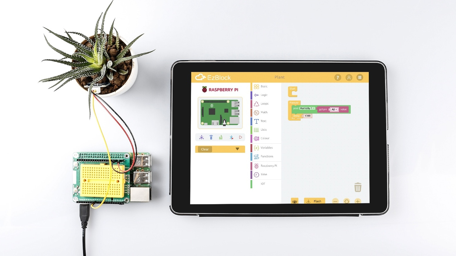 A portable extension board allowing you to program conveniently anywhere, anytime.