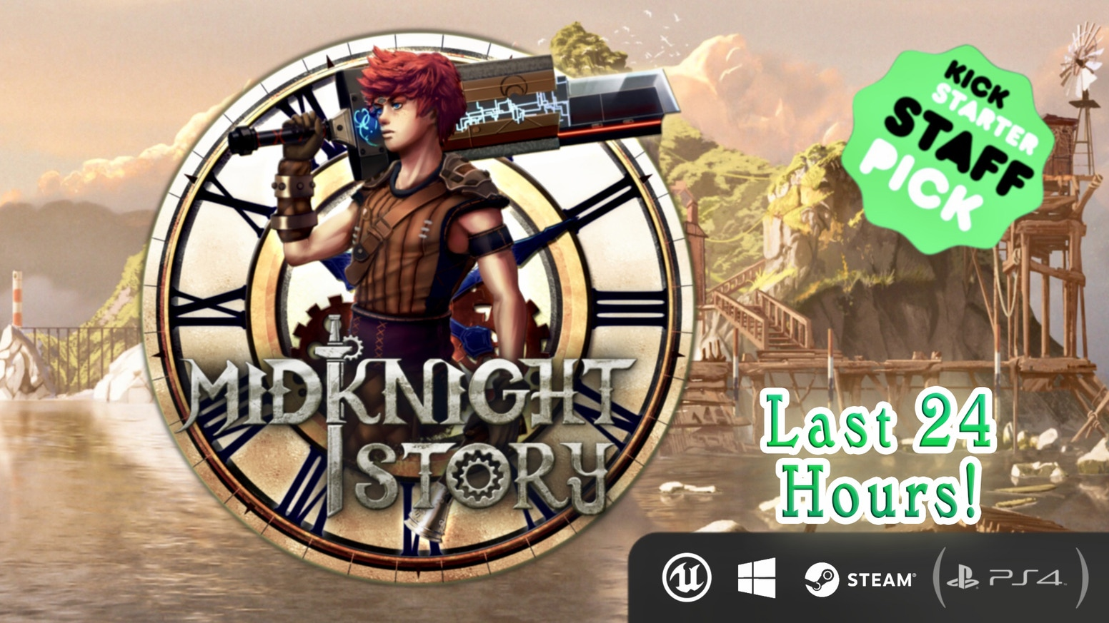 A story driven action adventure RPG set in a steampunk & fantasy open world for PC! Missed out on MidKnight Story's Kickstarter campaign? Late backing options are now available!