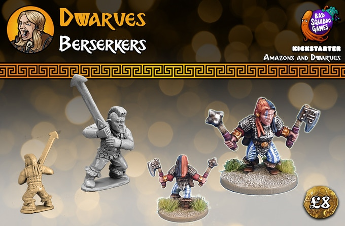This pack contains two single piece high quality white metal miniatures. Supplied unpainted.