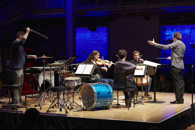 Conductor George Jackson with LSO Ensemble, performing 'The Letter' by Jasmin Kent Rodgman feat. Salena Godden
