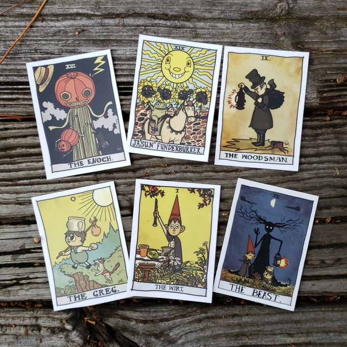 "Six Pack of Tarot Stickers (Approx. 2.5"" x 3.5"" Each)"