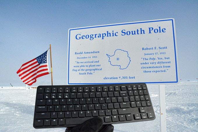 X-1 Mechanical Keyboard at the South Pole