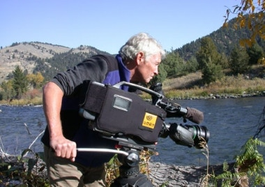Cinematographer Ed George enjoying a day's work in Montana. Photo from ThisIsBozeman.com