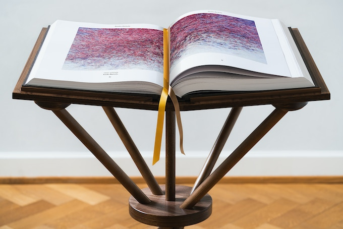 The big edition on the book stand (detail)