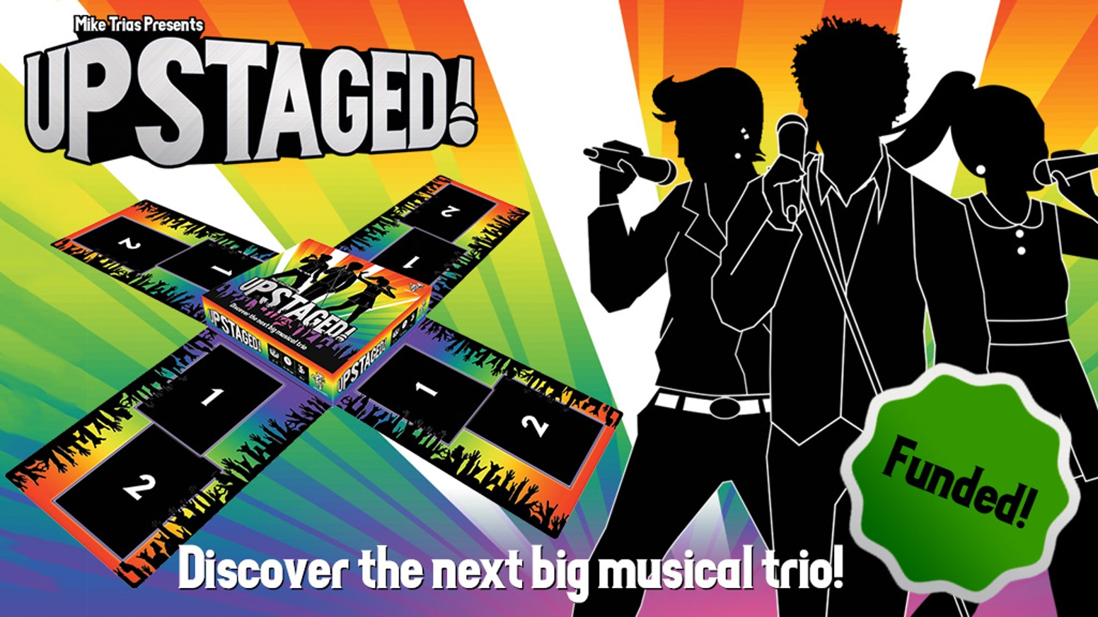 Become a musical mentor, competing to form the hottest new trio in this quick, lightweight game!