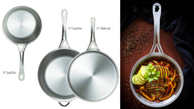 Our first USA nöni™ pans, successfully funded and fulfilled through Kickstarter in 2018.