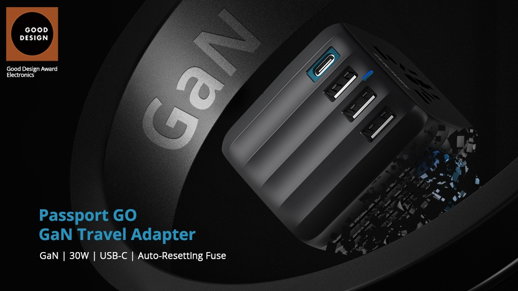 Passport GO: World's First Travel Adapter w/ GaN Technology project video thumbnail